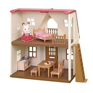 Calico Critters red roof cozy cottage | Wooden Dollhouse for Kid