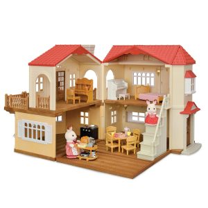 Calico Critters red roof country home gift set | dollhouse for 2-3 year old