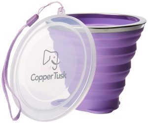 Collapsible cups by Copper Tusk |collapsible cup hiking & camping | collapsible cup target | collapsible cup walmart