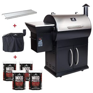 Multi Purpose Smoker and BBQ Wood Pellet Grill with Dual Mode PID Controller