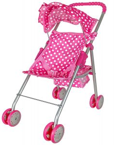 Precious Toys pink & white doll stroller | baby doll stroller target