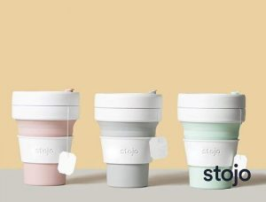 STOJO on the go coffee cup | branded collapsible coffee cup | reusable coffee cup amazon