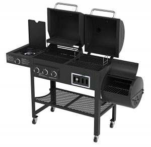 gas grill and smoker combo