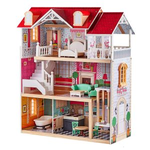 TOP BRIGHT wooden dollhouse | best doll houses ever for kids
