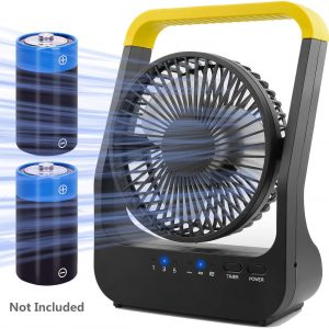 rechargable battery operated fan
