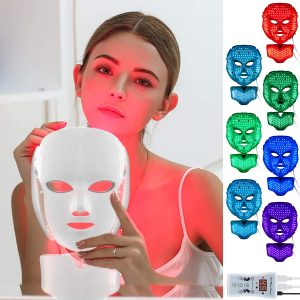 led light up face mask for beautiful girl