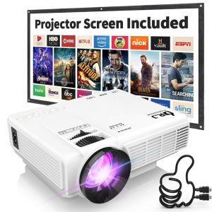 led projector 1080p for home cinema and business presentation
