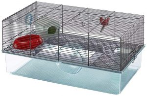 Favola Hamster Cage   Includes Free Water Bottle, Exercise Wheel, Food Dish & Hamster Hide-Out