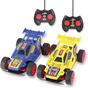Kidzlane Remote Control Racing Cars, Set of Two - Easy to Control and Race Together