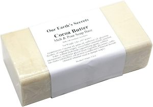 Our Earth's Secrets Cocoa Butter - 2 Pound Melt and Pour Soap Base