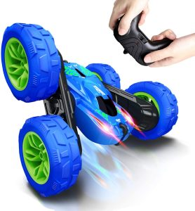 SHARKOOL 360°Flips Double Sided Rotating 4WD 2.4Ghz Remote Control Car