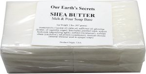 Shea Butter - 2 Lbs Melt and Pour Soap Base - Our Earth's Secrets