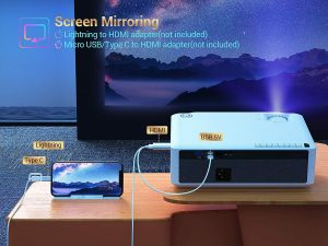 full hd led projector for home cinema and presentation