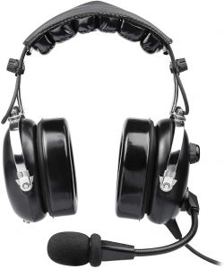 Aviation Headset for Pilots, Aviation Headset with Comfort Ear Seals, 24db Noise Cancelling