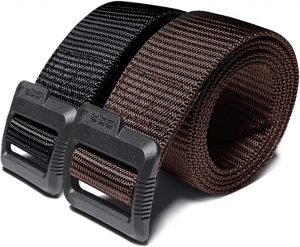 CQR Tactical (Pack of 1, 2) Duty Nylon Webbing EDC Military Belt