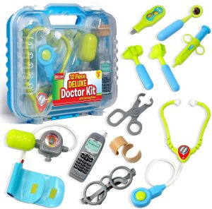 12 Medical Doctor's Equipment, Packed in a Sturdy Gift Case