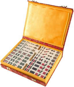 mahjong set with numbers