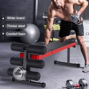 folding weight bench with rack