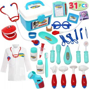 31 Pieces Pretend-n-Play Dentist Medical Kit