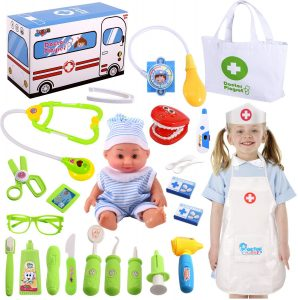 Pretend Play Medical Kit Set for Girls Kids