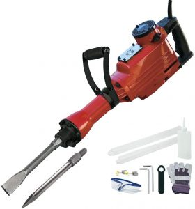 Toolman Electric Demolition Jack Hammer | concrete breaker with case, goggles and gloves LT5105