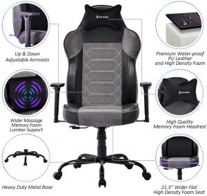 pc gaming chair with massage