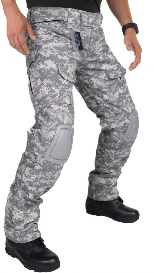 ZAPT Tactical Pants with Knee Pads Airsoft Camping Hiking Hunting BDU Ripstop Combat Pants