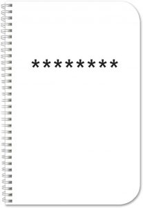 Durable Thick Translucent Cover password notebook