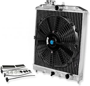 aluminum radiator and electric fan combo