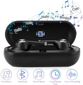 Earphone Device Voice Translation Support 19 Languages