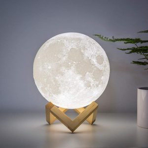 Large Lunar Lamp for Kids Gift for Women USB Rechargeable