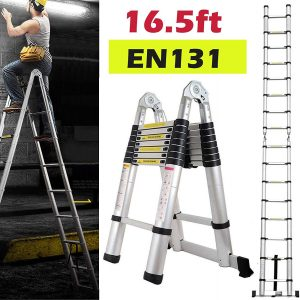 330lbs Max Capacity A-Frame Lightweight Portable ladder