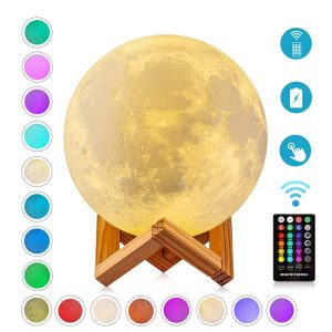Timing Moon Lights 3D Printed 16 Colors