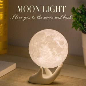 Warm and Cool White Lunar Lamp