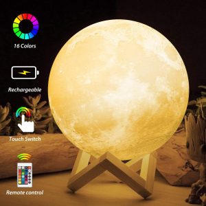 LED Moon Light with Stand Remote Touch Tap Control