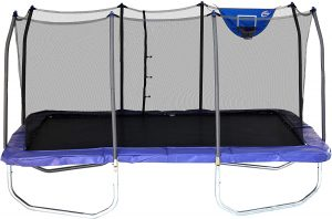 Rectangle Jump-N-Dunk Trampoline with Enclosure