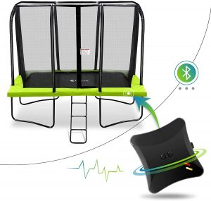 Smart Trampoline with Safety Enclousre Net, Ladder and Energy Jumping Detector