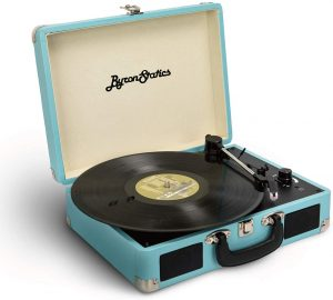 Jack Portable Vintage Suitcase Teal Player