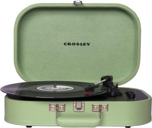3-Speed Belt-Driven Suitcase Turntable Record Player