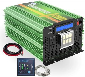 Power Inverter 3500W DC 12V to AC 120V with LCD Display and Remote Controller