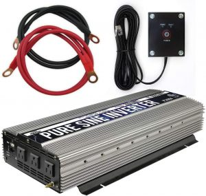 Pure Sine Wave Inverter with Starter Cables and 4 Output Sockets