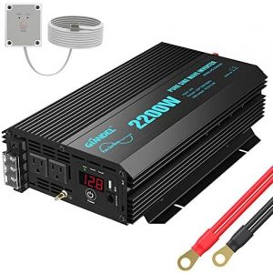 Power Inverter 2200Watt DC 12volt to AC 120volt with Dual AC Outlets and 2.4A USB Port