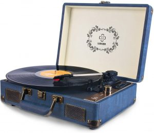 Belt-Drive 3-Speed Stereo Turntable with Speakers and Player