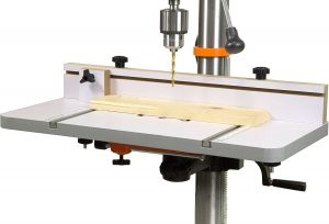 Adjustable Fence and Stop Block drill press table