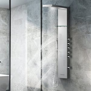 Multi-Function Tower and Massage System Wall Mount Panel